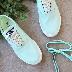 Sperry Classic Aqua Lace Up Sneakers